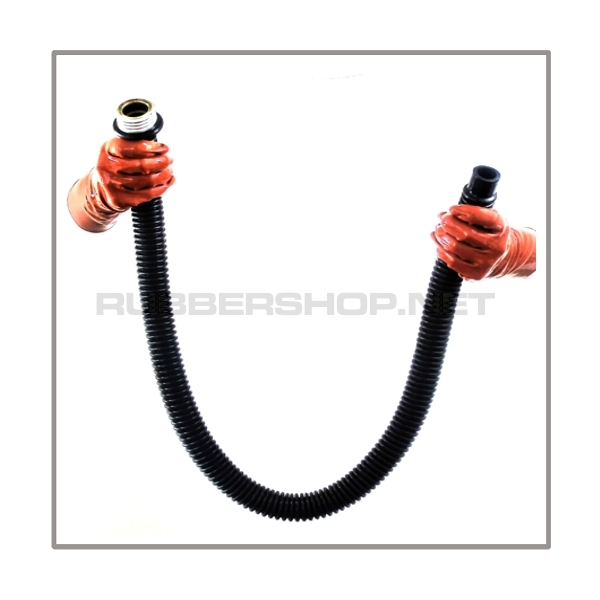 Gasmask-tube T100-D-M highly flexible with length 100 cm = 40 inch and gasmask-connectorthreads male to 22 mm mediport female
