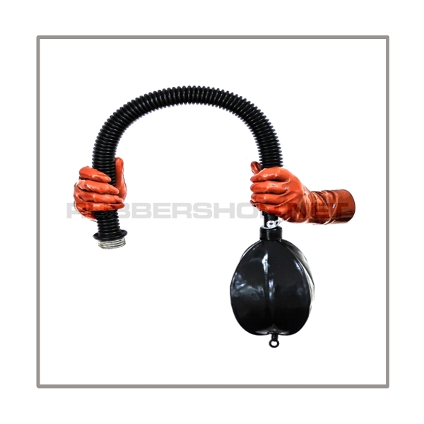 Breathing reduction set with breathing bag 2 liter and 50 cm = 20 inch premium quality tube with gas mask thread