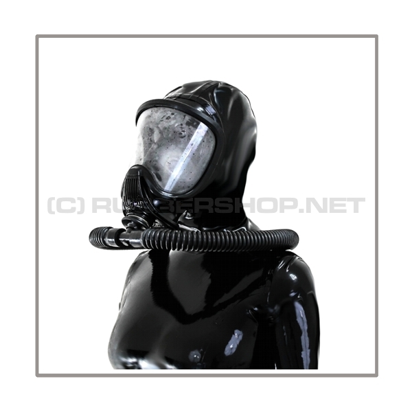 Deluxe Draeger ELITE gasmask-zipperhood-system PROTECT-E with ringtube-set and rebreathing-bag