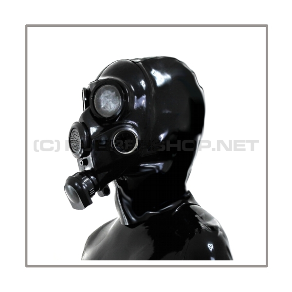 Deluxe gasmask-zipper-hood HR-G with thread at the side - model GP7