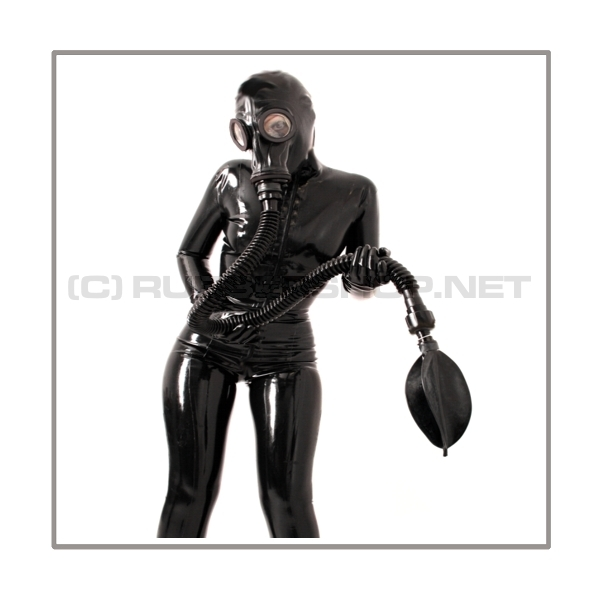 Breathing reduction set with breathing bag 2 liter and 100 cm = 40 inch premium quality tube with gas mask thread